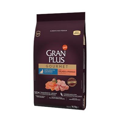 Ração Granplus Gourmet para Gatos Adultos Castrados Salmão e Frango 10,1 kg