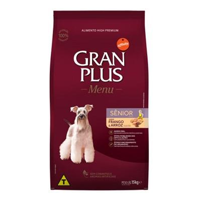 Ração GranPlus Menu cachorro sêniorfrango e arroz15,0kg