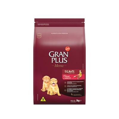 Ração GranPlus Menu cachorros filhotes carne e arroz 15,0kg