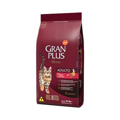 Ração GranPlus Menu gatos adultos carne e arroz pacotes individuais 10,1kg