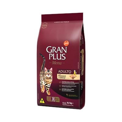 Ração GranPlus Menu gatos adultos frango e arroz pacotes individuais 10,1kg
