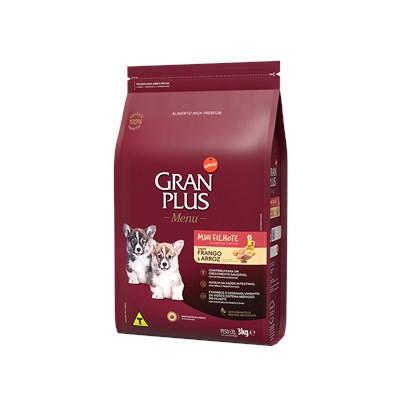 Produto Ração Granplus Menu para Cães Filhotes de Raças Pequenas Frango e Arroz 3kg