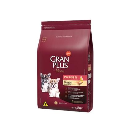 Ração Granplus Menu para Cães Filhotes de Raças Pequenas Frango e Arroz 3kg