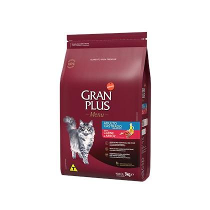 Ração Granplus para Gatos Adultos Castrados Carne 10,1 kg