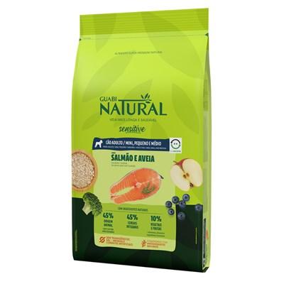 Ração Guabi Natural cachorro adulto sensitive mini, pequeno e médio salmão e aveia 10,1kg