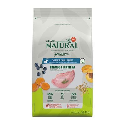Ração Guabi Natural Grain Free para Cães Adultos de Raças Pequenas Frango e Lentilha 10,1 kg