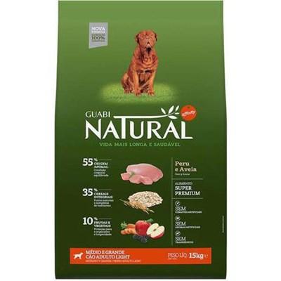 Ração Guabi Natural Light para Cães Adultos de Raças Médias e Grandes Peru e Aveia 15kg