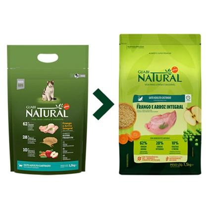 Ração Guabi Natural para Gatos Adultos Castrados Frango e Arroz 1,5 kg