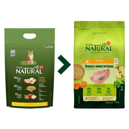 Ração Guabi Natural para Gatos Filhotes Frango e Arroz 1,5 kg