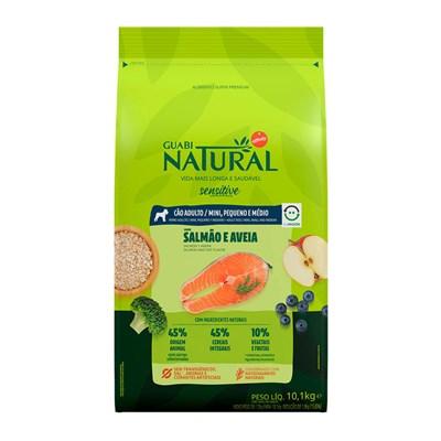 Ração Guabi Natural Sensitive cachorro adulto mini, pequeno e médio salmão e aveia 10,1kg
