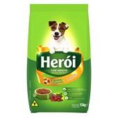 Ração Herói para Cães Adultos Carne e Vegetais 15kg