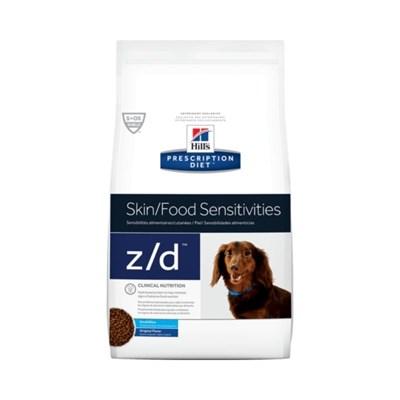 Ração Hills Prescription Diet Z D para Cães Adultos Pedaços Pequenos Alergia ou Intolerância Alimentar 3,17kg