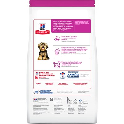 Ração Hills Science Diet para Cães Adultos de Raças Pequenas e Miniaturas 2,4kg