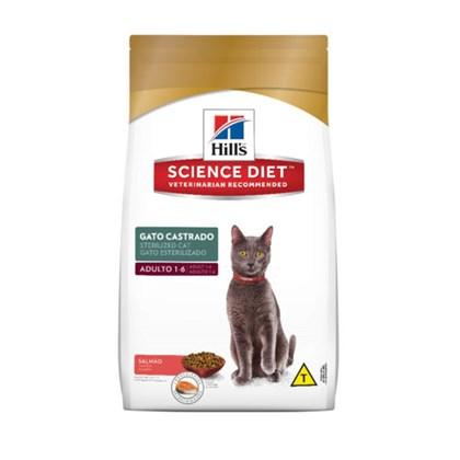 Ração Hills Science Diet para Gatos Adultos Castrados Salmão 400gr