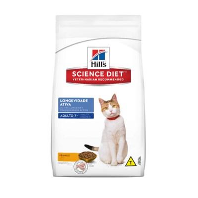 Ração Hills Science Diet para Gatos Adultos Longevidade Ativa com mais de 7 anos 7,5 kg