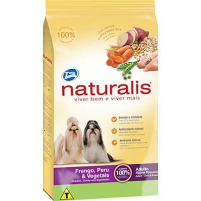 Ração Naturalis para Cães Adultos de Raças Pequenas Frango,Peru e Vegetais 15kg