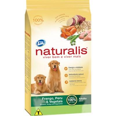 Ração Naturalis para Cães Adultos Frango, Peru e Vegetal 15kg