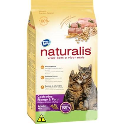 Ração Naturalis para Gatos Adultos Castrados Frango Peru 1kg