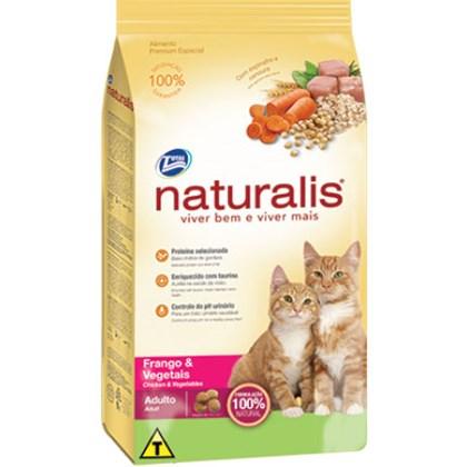 Ração Naturalis para Gatos Adultos Frango Vegetais 3kg