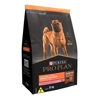 Ração Nestlé Purina Pro Plan Sensitive Skin para Cachorros Adultos Médios e Grandes Salmão 15kg
