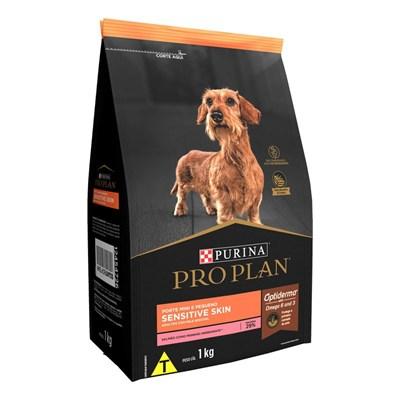 Ração Nestlé Purina Pro Plan Sensitive Skin para Cachorros Adultos Minis & Pequenos Salmão 1kg