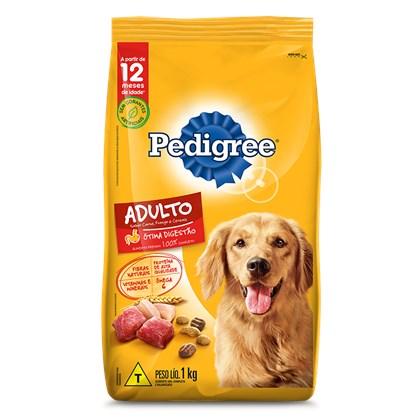 Ração Pedigree® para cachorros adultos carne, frango e cereais 1,0kg