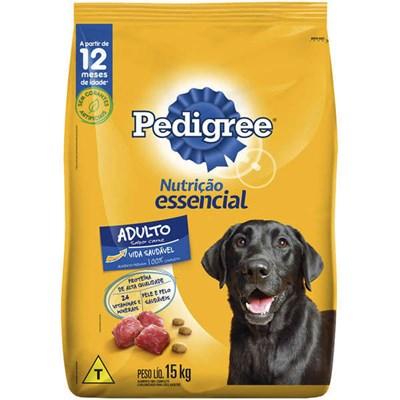 Ração Pedigree Nutrição Essencial para Cães Adultos 15kg