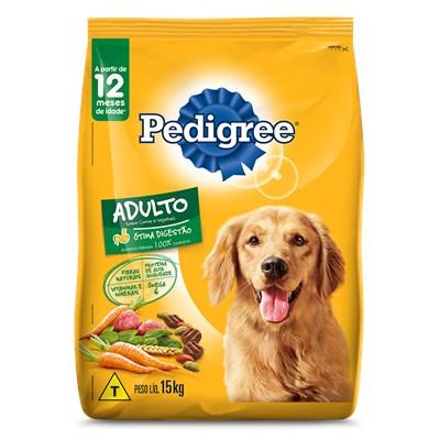 Ração Pedigree para cachorros adultos carne e vegetais 15,0kg