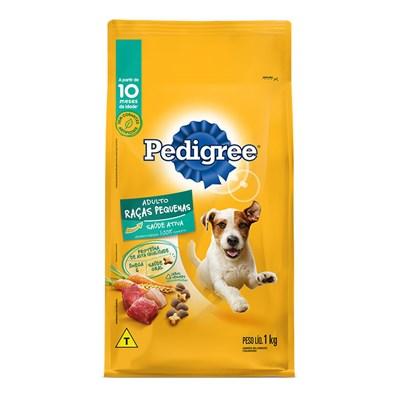 Ração Pedigree para cachorros adultos de raças pequenas 1,0kg