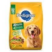 Ração Pedigree para Cães Adultos Carne e Vegetais 15kg