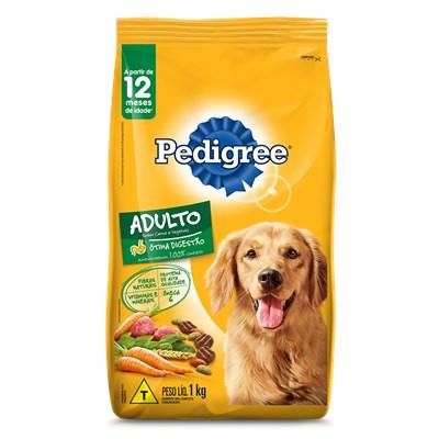 Ração Pedigree para Cães Adultos Carne e Vegetais 1kg