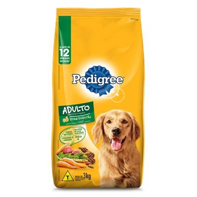 Ração Pedigree para Cães Adultos Carne e Vegetais 3kg