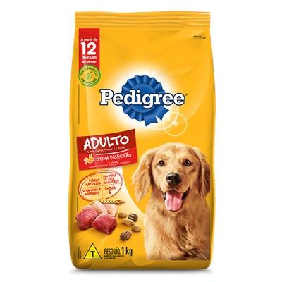 Ração Pedigree para Cães Adultos Carne Frango Cereais 1kg