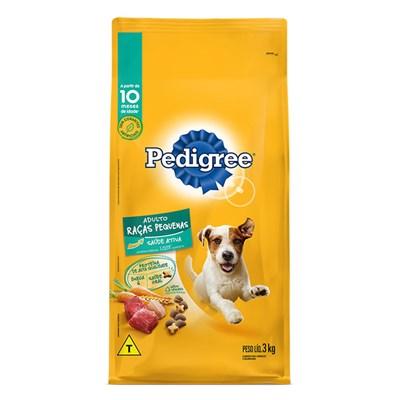 Ração Pedigree para Cães Adultos de Raças Pequenas 3kg