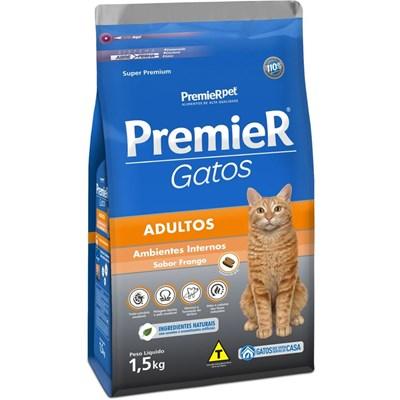 Ração PremieR Ambientes Internos gatos adultos Frango 1,5kg