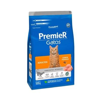 Ração PremieR Ambientes Internos gatos adultos frango 500gr