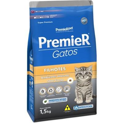 Ração PremieR Ambientes Internos gatos filhotes frango 1,5kg