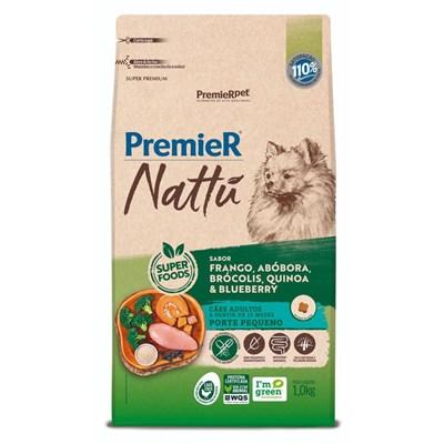 Ração PremieR Nattu cachorros adultos raças pequenas frango, abóbora e brócolis 1,0kg