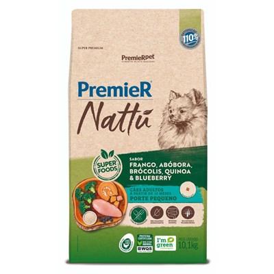 Ração PremieR Nattu cachorros adultos raças pequenas frango, abóbora e brócolis 10,1kg