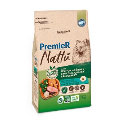 Ração PremieR Nattu cachorros adultos raças pequenas frango, abóbora e brócolis 2,5kg