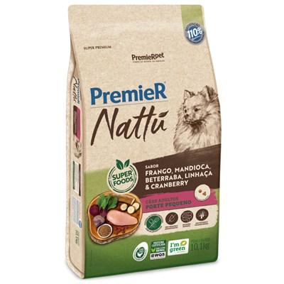 Ração PremieR Nattu cachorros adultos raças pequenas frango, mandioca e linhaça 10,1kg