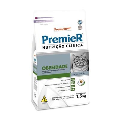 Ração Premier Nutrição Clínica para Gatos Adultos Obesidade 1,5 kg
