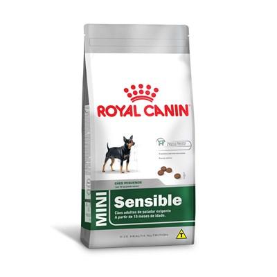 Ração Royal Cannin Mini Adult Sensible para Cães Adultos de Porte Pequeno com Paladar Exigente 2,5 kg