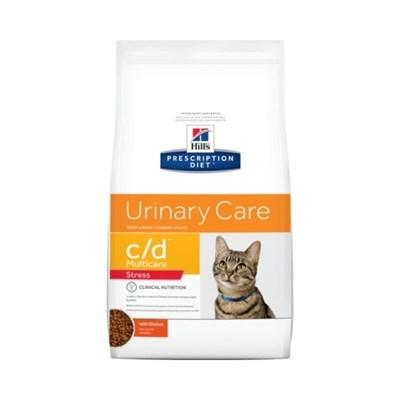 Ração Seca Hill's Prescription Diet c/d Multicare Stress Cuidado Urinário para Gatos Adultos 1,8kg