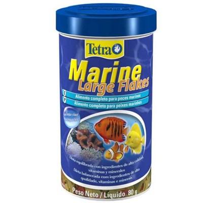 Ração Tetra Marine Large Flakes em Flocos para Peixes Marinhos 80gr