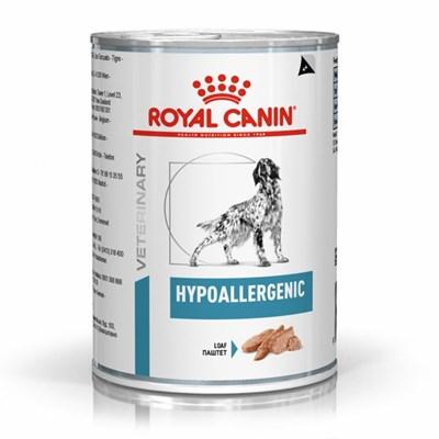 Ração Úmida Lata Royal Canin Hypoallergenic para Cachorros Adultos 400g