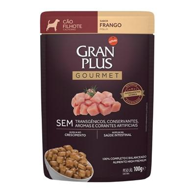 Ração Úmida Sachê GranPlus Gourmet cachorros filhotes frango 100gr