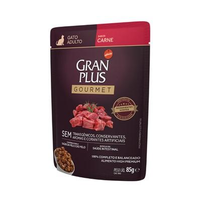 Ração Úmida Sachê GranPlus Gourmet gatos adultos carne 85gr