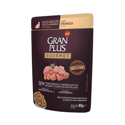 Ração Úmida Sachê GranPlus Gourmet trato urinário gatos adultos frango 85gr