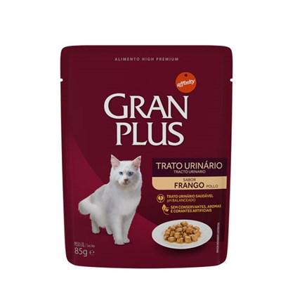 Ração Úmida Sachê GranPlus Menu trato urinário gatos adultos frango 85gr